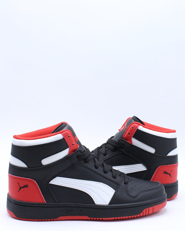 Rebound Layup Sl Sneaker (Grade School) - Black White Red