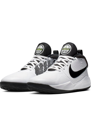 Kid's Team Hustle D 9 Sneaker (Grade School) - White Black