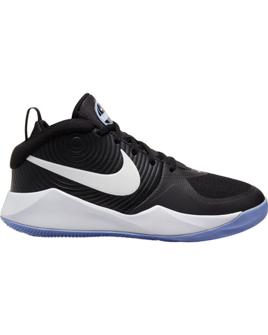 NIKE-Team Hustle D 9 Sneaker (Grade School) - Black White-VIM.COM