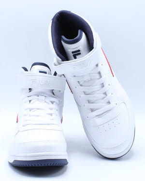 Fila A High Shoe (Grade School) - White Navy