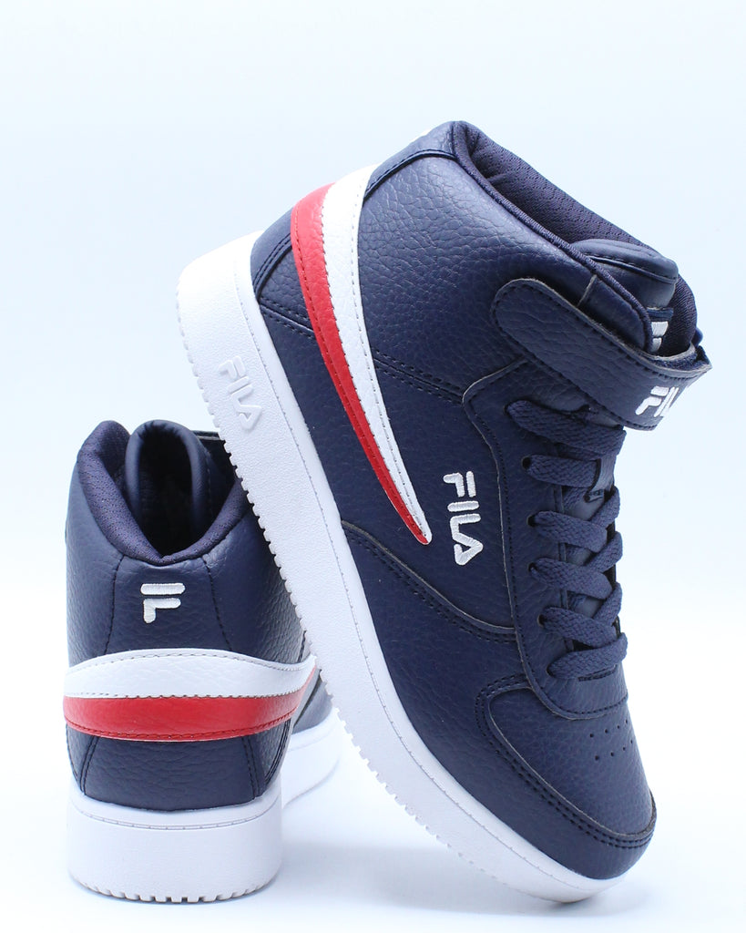 Fila A High Shoe (Grade School) Navy White