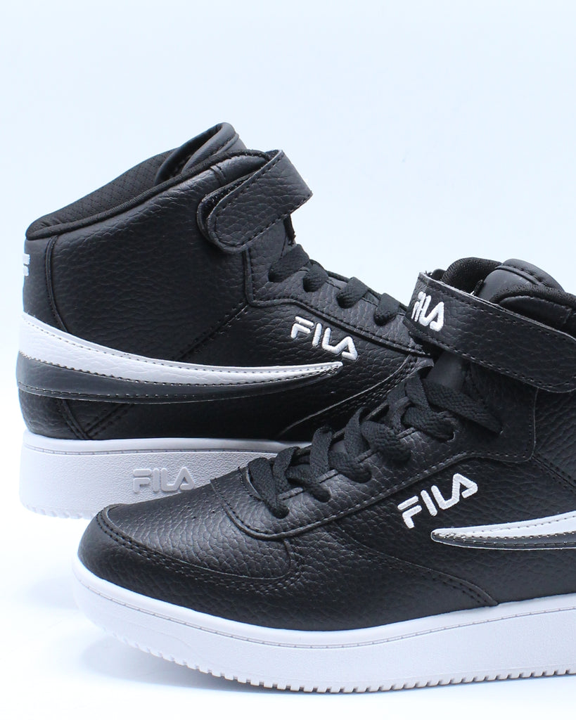 Kid's FILA Fila A High Shoe (Grade School) Black Grey VIM
