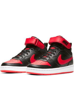 Kid's Court Borough Mid  2 Sneaker (Grade School) - Black Red