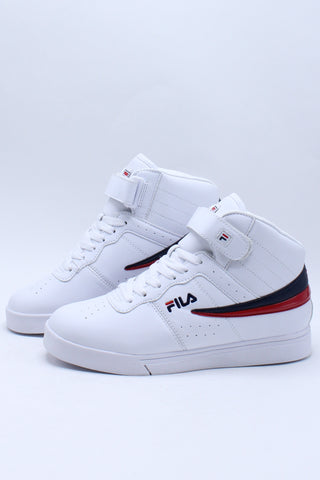 Kid's Vulc 13 Mid Sneaker (Grade School) - White Navy Red