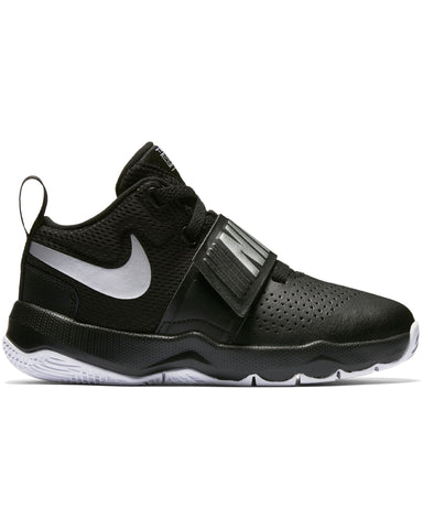 NIKE-Team Hustle D 8 Sneaker (Pre School) - Black White-VIM.COM