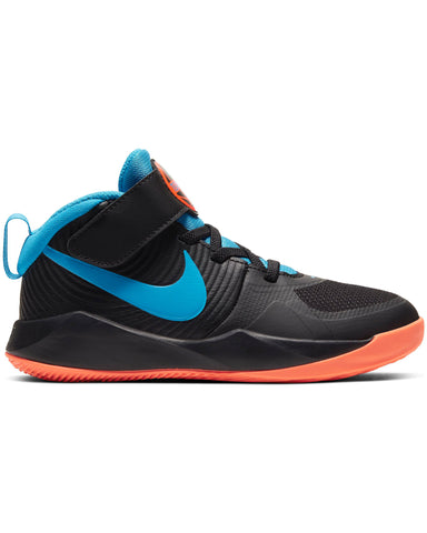 NIKE-Team Hustle D 9 Sneaker (Pre School) - Black Blue-VIM.COM