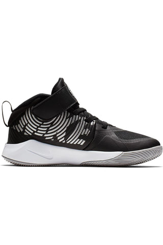 NIKE-Kid's Team Hustle D 9 Shoe (Pre School) - Black Grey-VIM.COM