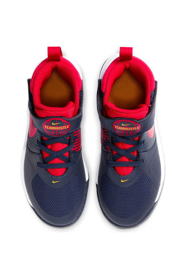 Kid's Team Hustle D 9 Sneaker (Pre School) - Navy Red