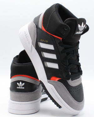 ADIDAS-Drop Step Sneaker (Grade School) - Black Red White-VIM.COM