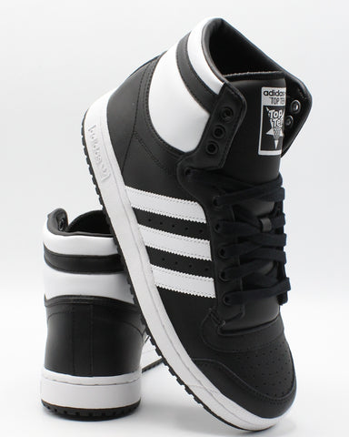ADIDAS-Top Ten Hi J Sneaker (Grade School) - Black White-VIM.COM