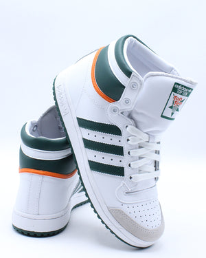 ADIDAS-Kid's Top Ten Sneaker (Grade School) - White Green Orange-VIM.COM