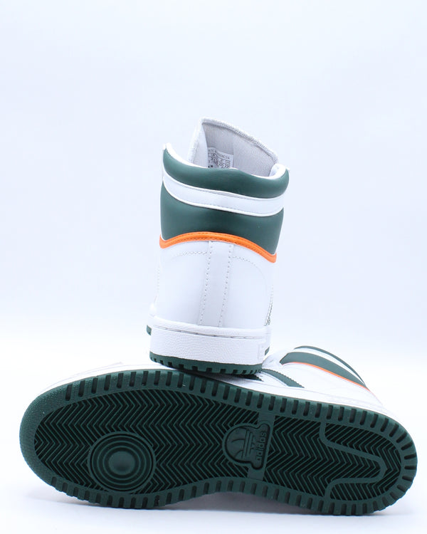 Kid's Top Ten Sneaker (Grade School) - White Green Orange