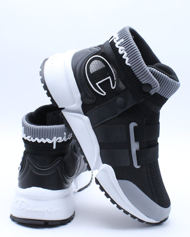 CHAMPION-Rally Future Sneaker (Grade School) - Black White-VIM.COM