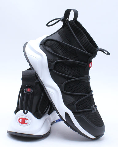 Rally Flux Sneaker (Grade School) - Black White