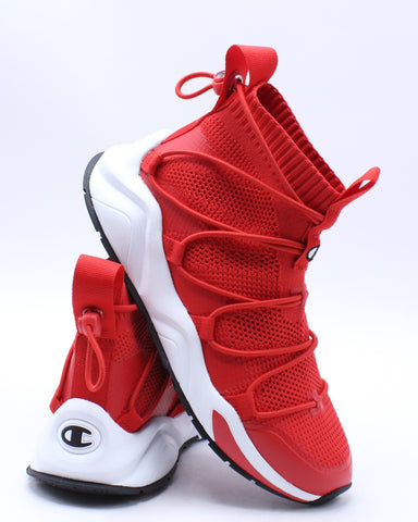 CHAMPION-Rally Flux Sneaker (Grade School) - Red White-VIM.COM
