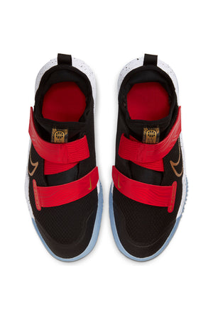 Kid's Zoom Flight Basketball Sneaker(Grade School) - Black Red