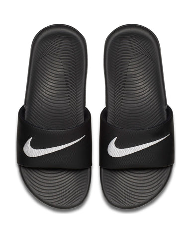 Nike Kawa Slide (Grade School) - Black White