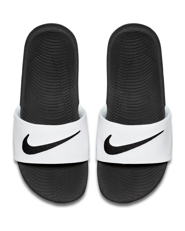 Nike Kawa Slide (Grade School) - White Black