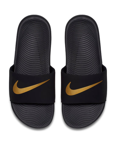 Nike Kawa Slide (Grade School) - Black Gold