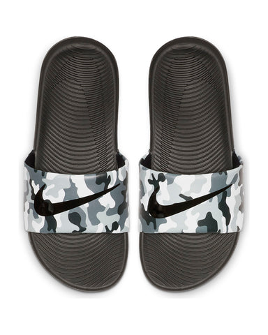 Nike Kawa Slide (Grade School) - Grey Black