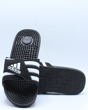 Adissage K Slide Sandal (Grade School) - Black White