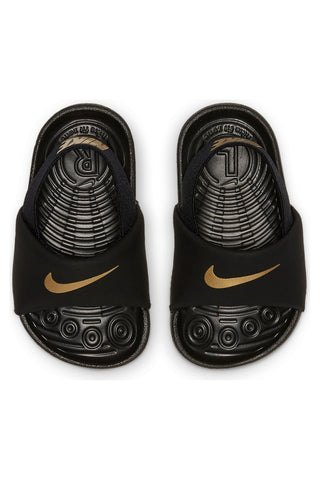 NIKE-Kid's Kawa Sandal (Toddler) - Black Gold-VIM.COM