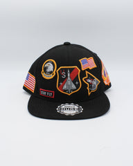VIM Patches Army Stay Fly Snapback - Black - Vim.com