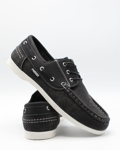 PARISH NATION Men'S Boat  Shoe - Black - Vim.com