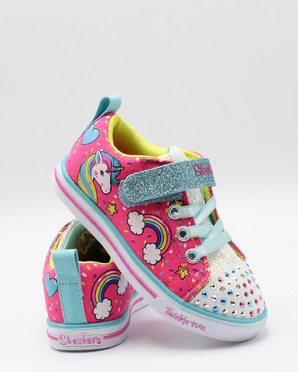 SKECHERS-Sparkle Light Sneaker (Toddler) - Pink-VIM.COM