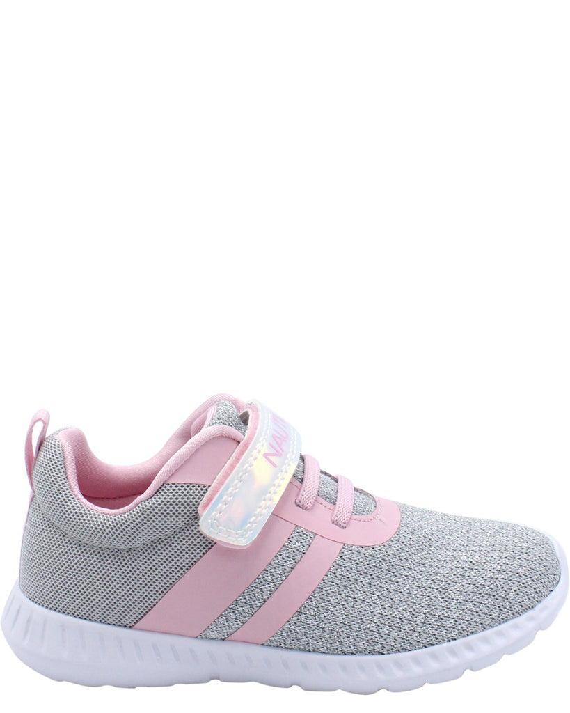 NAUTICA Towhee Low Top Sneakers (Toddler) - Silver - Vim.com