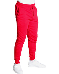 VIM Men'S Basic Fleece Paint Joggers - Red - Vim.com