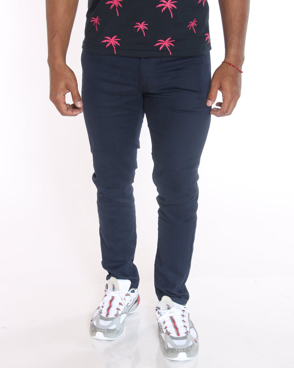VIM John Twill Embroidered Pocket Pant - Navy - Vim.com