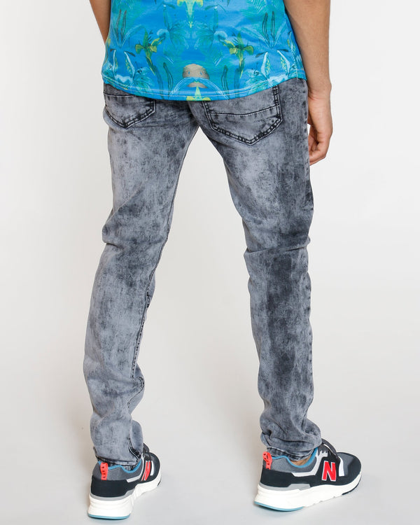VIM Embroidery Pocket Skinny Jean - Grey - Vim.com