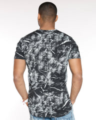 VIM All Over Print Rubber Patch Mesh Tee - Black - Vim.com