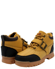 Viking Boys' Irving Buckle Ankle Hiking Boot (Grade School) - Wheat - Vim.com