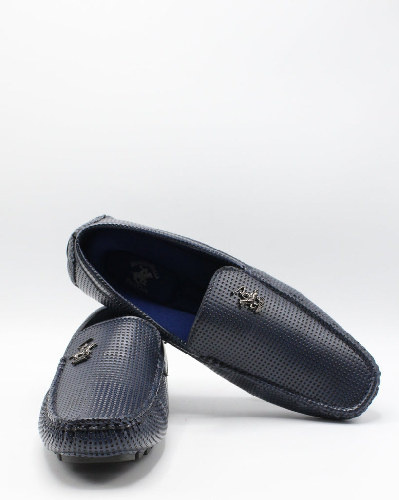 BEVERLY HILLS POLO CLUB Men'S Ferguson Drving Moc Perf Shoe - Navy - Vim.com