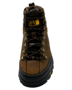 Caterpillar Men'S Threshold Wp Steel Toe Boot - Brown - Vim.com