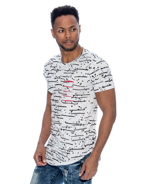 VIM All Over Rips Scallop Bottom Tee (Available In 4 Colors) - Vim.com