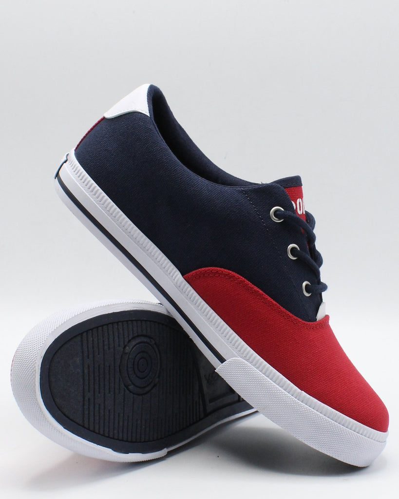 POLO RALPH LAUREN Vaughn Ii Sneaker (Grade School) - White Navy Red - Vim.com