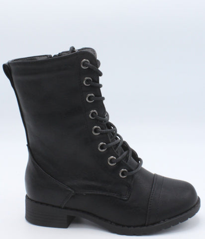 VIM Girls Lace Up Riding Boots - Black - Vim.com