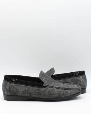 VIM Men'S Denim Boat Shoes - Black - Vim.com