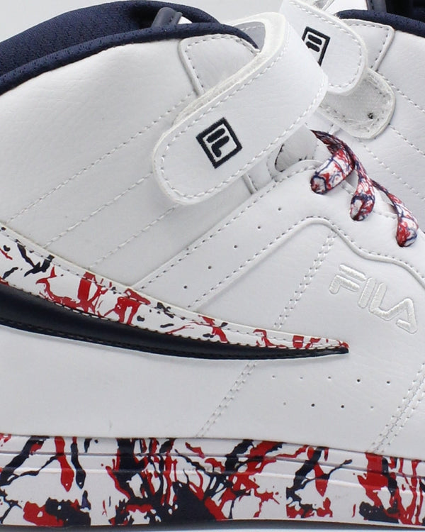 FILA F 13 Mp Marble Sneaker (Grade School) - White Navy Red - Vim.com