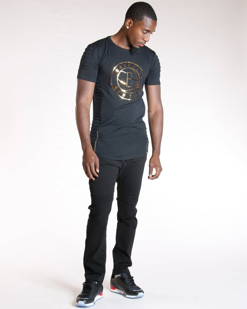 VIM Brooklyn Motto Zip Tee (Available In 2 Colors) - Vim.com