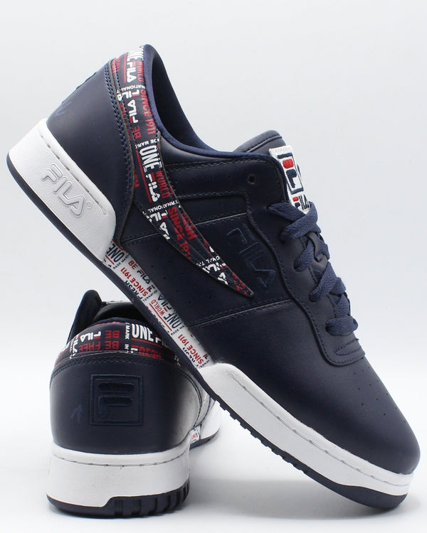 FILA-Men's Original Fitness Sneaker - Navy-VIM.COM