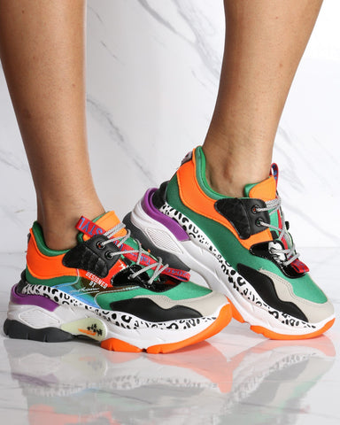Women's Danger Zone Fashion Sneaker - Green-VIM.COM