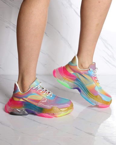 Women's Taste The Colors Lace Up Sneaker - Rainbow