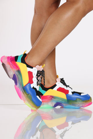 Women's Clear Bottom Sneaker - Rainbow-VIM.COM