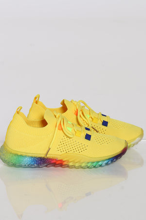 Women's Flynet Sneaker - Yellow