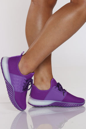 Women's Pyramid Studds Sneaker - Purple