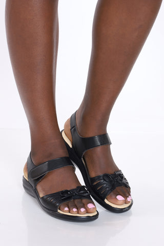 Women's Soft 80 Sandal - Black-VIM.COM